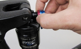 Picture 5: Rebound setting on a Fox RP23 damper