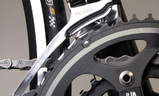 Picture 1: Distance between front derailleur and chainring