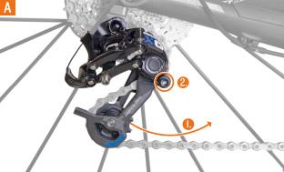 Picture 3: Losen of chain tension