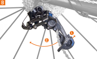 Picture 4: The rear derailleur moves backwards