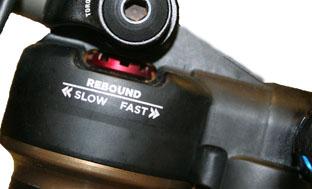 Image 11: Fox Float CTD Rear Shock Rebound Adjustment