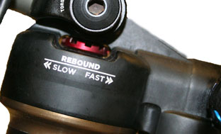 Picture 7: Rebound setting on a Fox CTD shock